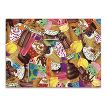 Ice Cream Collage Wall Art Print