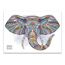 African Ethnic Elephant Wall Art Print