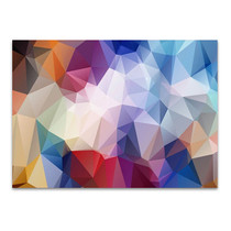 Geometrical Rainbow Wall Art Print