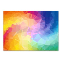 Triangular Colorful Wall Art Print