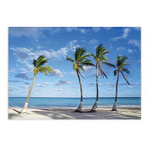 Beach Palm Trees Wall Art Print