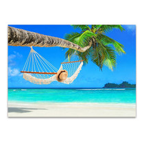 Hammock Palm Tree Wall Art Print