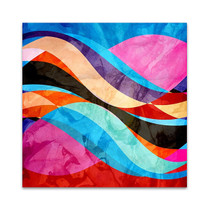 Colorful Waves Wall Art Print