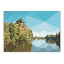 Fractal Lakeside Wall Art Print