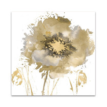 Flower Burst in Gold II Wall Art Print