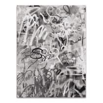 Graffiti Love Monochromatic Wall Art Print