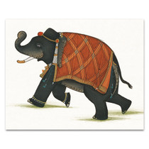India Elephant II Wall Art Print