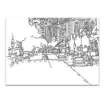 Boston City Line Wall Art Print