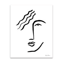 Faces I Line Wall Art Print