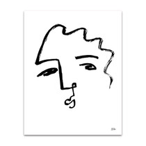 Making Faces IX Line Wall Art Print