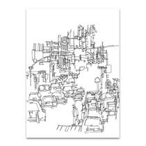 Streetscape Line Art Print