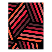 Red Monochrome Patterns IV Wall Art Print