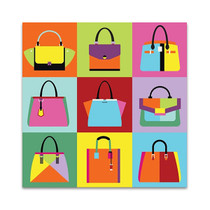 Fashion Handbag Wall Art Print