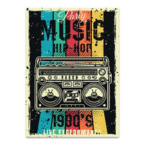 Party Music Wall Art Print