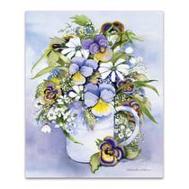 Purple Pansy Wall Art Print
