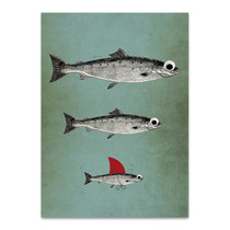 Surviving Fish Wall Art Print