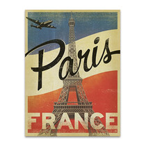 Vintage Paris Eiffel Tower Wall Art Print
