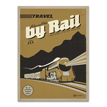 Travel by Train Wall Art Print