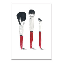 Beauty Brushes Wall Art Print