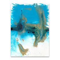 Marbling Blue Blown Wall Art Print