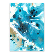 Marbling Blue Water Wall Art Print