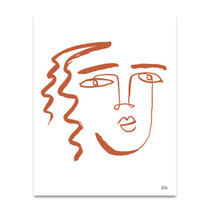 Making Faces V Terracotta Wall Art Print