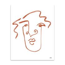 Making Faces VIII Terracotta Wall Art Print