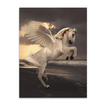 Pegasus With Roses Wall Art Print