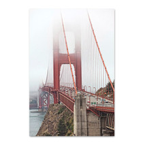 Golden Gate Bridge in Fog Wall Art Print