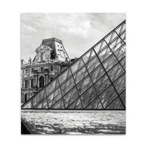 Louvre New Meets Old Wall Art Print