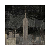 Vintage New York in Black I Wall Art Print
