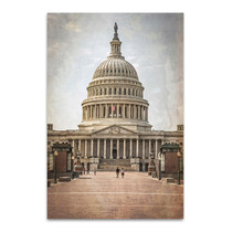 Washington DC Vintage Capitol Wall Art Print