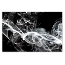 White Smoke Wall Art Print