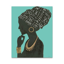 Graceful Majesty II Turquoise Wall Art Print
