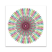 String Multicolor II Wall Art Print
