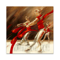 Dancing Ribbons Wall Art Print