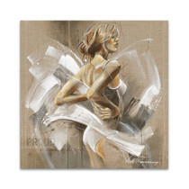 White Dress I Wall Art Print