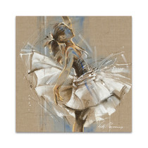 White Dress III Wall Art Print