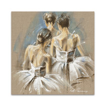 White Dress IV Wall Art Print