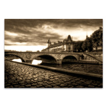 Bridge on The Seine Wall Art Print