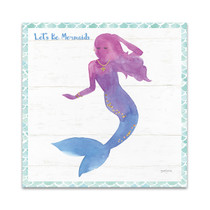 Mermaid Friends III Lets Be Wall Art Print