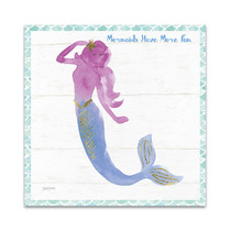 Mermaid Friends IV Fun Wall Art Print