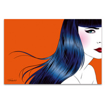 Blue Hair Wall Art Print