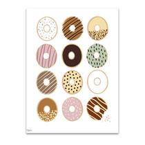 Donuts Wall Art Print