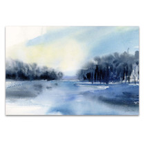 Winter River Wall Art Print