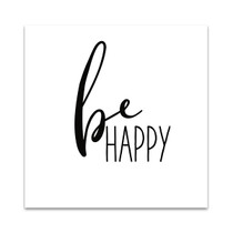 Be Happy Wall Art Print