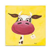 Yellow Cow Wall Art Print