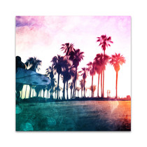 Surf On The Boardwalk Wall Art Print