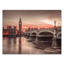 Big Ben Sunset Wall Art Print