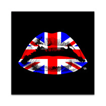 England Kiss Wall Art Print